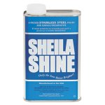 Sheila Shine Stainless Steel Cleaner & Polish, 1qt Can, 12/Carton (SSI2CT)