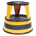 "Cramer Two-Step Steel Step Stool, 14"" high, 500lb Duty, Orange (CRA100130)"