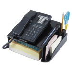 Universal Telephone Stand and Message Center, Black (UNV08116)