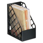 Universal Recycled Plastic Large Magazine File, Black (UNV08119)