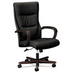 Basyx VL844 Series High-Back Swivel Chair, Black Leather (BSXVL844NSB11)