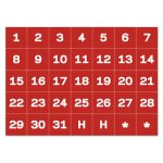 Mastervision Calendar Magnetic Tape, Calendar Dates, Red/White (BVCFM1209)