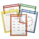 c-line-reusable-dry-erase-pockets-9-x-12-assorted-primary-colors-5pack-cli42630