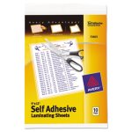 Avery Clear Self-Adhesive Laminating Sheets, 3 mil, 9 x 12, 10/Pack (AVE73603)