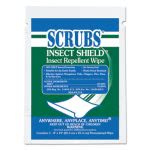 Scrubs Insect Shield Insect Repellent Wipes, 8 x 10, White, 100 Wipes (ITW91401)