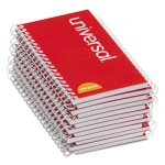 universal-wirebound-memo-book-narrow-rule-5-x-3-white-12-pads-unv20453