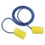 3m E-A-R Classic Earplugs, Corded, PVC Foam, Yellow, 200 Pairs/Box (MMM3111101)