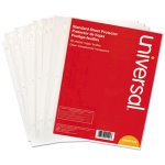 Universal Top-Load Sheet Protectors, Letter, Clear, 50 Sheets/Pack (UNV21124)