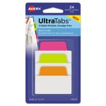 Avery Repositionable Tabs, 2 x 1.5, Assorted Neon Colors, 24 Tabs (AVE74753)