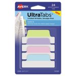 Avery Repositionable Tabs, 2.5 x 1, Assorted Pastel Colors, 24 Tabs (AVE74769)