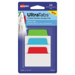 Avery Repositionable Tabs, 2 x 1.5, Assorted Primary Colors, 24 Tabs (AVE74754)