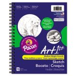 "Pacon Art1st Sketch Diary, 8-1/2"" X 11"", 60 lb, 70 Sheets, White (PAC4794)"