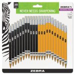 Zebra #2 Mechanical Pencil, 14 Yellow/14 Black, 28/Pack (ZEB51391)