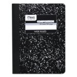 Mead Black Marble Composition Book, Wide Rule, 100 Sheets (MEA09910)