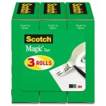"Scotch Magic Tape Roll Refill, 3/4"" x 1000"", 3 Refills (MMM810K3)"