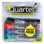 Quartet Dry Erase Markers, Chisel Tip, Assorted Colors, 4/Set (QRT5001M)