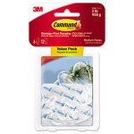 Command Clear Hooks & Strips, Med, 6 Hooks w/12 Adhesive Strips (MMM17091CLR6ES)