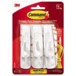 Command General Purpose Hooks, 3-lb. Capacity, 6 Hooks & 12 Strips (MMM170016ES)