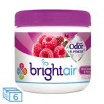Bright Air Odor Eliminator,  Raspberry-Pomegranate, 6 - 14 oz Jars (BRI900286CT)