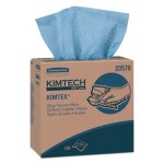 Kimtech KIMTEX Wipers, Pop-Up Box, Blue, 5 Boxes/Carton (KCC33570)