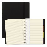Filofax Notebook, Black Cover, 8 1/4 x 5 13/16, 112 Sheets (REDB115007U)