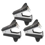 Universal Jaw Style Staple Remover, Black, 3 per Pack (UNV00700VP)