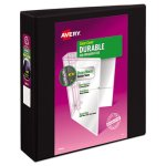 "Avery Vinyl Slant D Ring View Binder, 11 x 8-1/2, 2"" Capacity, Black (AVE17031)"