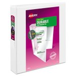 "Avery Vinyl Ring View Binder, 11 x 8-1/2, 1-1/2"" Capacity, White (AVE17022)"