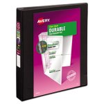 "Avery Durable Vinyl D Ring View Binder, 11 x 8-1/2, 1"" Capacity (AVE17011)"