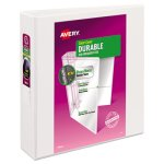 "Avery Durable Vinyl Slant D Ring Binder, , 2"" Exp. Capacity, White (AVE17032)"