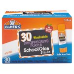Elmer's Washable School Glue Sticks, Disappearing Purple, 30 Sticks (EPIE555)