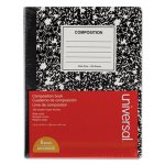 Universal Composition Book, College Rule, White, 100 Sheets, 6/Pack (UNV20946)