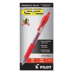 Pilot G2 Gel Ink Pen, Retractable, Red Ink, 1.0mm Bold, Dozen (PIL31258)