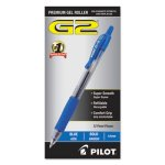 Pilot G2 Gel Pen, Retractable, Refillable, Blue, 1.0mm Bold, Dozen (PIL31257)
