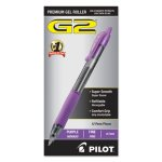 Pilot G2 Gel Ink Pen, Retractable, Purple Ink, 0.7mm Fine, Dozen (PIL31029)
