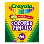 Crayola Colored Woodcase Pencil, HB, 3.3 mm, Assorted, 64/Pack (CYO683364)