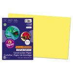Pacon Riverside Construction Paper, 12 x 18, Yellow, 50 Sheets (PAC103616)