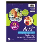Pacon Artist Watercolor Paper Pad, 9 x 12, White, 12 Sheets/Pad (PAC4910)