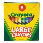 Crayola Large Crayons, Tuck Box, Bright Colors, 8 Colors (CYO520080)
