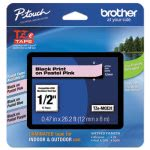 "Brother P-touch TZ  Adhesive Labeling Tape, 1/2"" Pastel Pink (BRTTZEMQE31)"