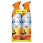 Febreze AIR, Hawaiian Aloha, 8.8-oz Aerosol, 2 Pack (PGC97794PK)