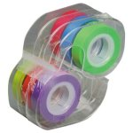 "Lee Removable Highlighter Tape, 1/2"" X 720"", Assorted, 6 Rolls (LEE13888)"