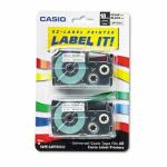 casio-tape-cassettes-for-kl-label-makers-18mm-x-26ft-black-on-clear-2pack-csoxr18x2s