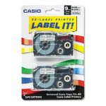 casio-tape-cassettes-for-kl-label-makers-9mm-x-26ft-black-on-silver-2pack-csoxr9sr2s