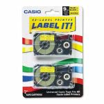 casio-tape-cassettes-for-kl-label-makers-9mm-x-26ft-black-on-yellow-2pack-csoxr9yw2s