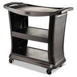 Rubbermaid 9T6800 3-Shelf Executive Cart, Black (RCP9T6800BK)