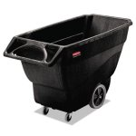 rubbermaid-3-4-cubic-yard-structural-foam-tilt-truck-black-rcp-1011-bla