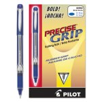 Pilot Precise Grip Roller Ball Stick Pen, Blue Ink, Bold (PIL28902)