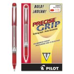 Pilot Precise Grip Roller Ball Stick Pen, Red Ink, Bold, Dozen (PIL28903)