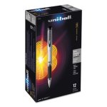 Uni-ball 207 Impact Roller Ball Stick Gel Pen, Black Ink, Bold, Dozen (UBC65800)